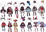 -CLOSED- Goth OUTFIT ADOPTS by Guppie-Adopts