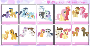 UPDATED top 10 MLP shippings to date by TobyandMavisforever