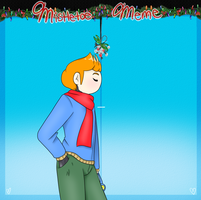 Mistletoe meme wat by Gray-Sea