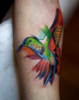 Hummingbird by evilmoon-tattoo