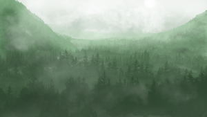Foggy Forest by TheBigRedButton123