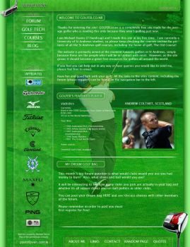 Golfer Website by PoetOfZwan