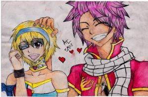 Natsu And Lucy by SolSpirit15