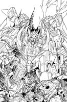 TF MTMTE 39 cover lineart by markerguru