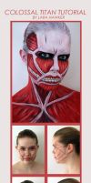 TUTORIAL - Colossal Titan makeup by larahawker