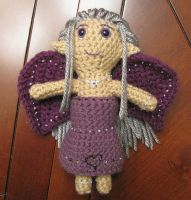 Ruthie's purple fairy doll by merigreenleaf