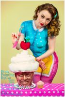 All bodypaint Paintopia Cupcake Al iced Vintage by Bodypaintingbycatdot