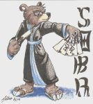 Soba conbadge by catmonkShiro