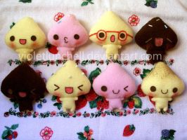 Cream Land plushies by VioletLunchell