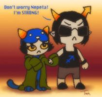 """Don't Worry Nepeta"" by BeagleTsuin"