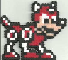 Rush From Megaman by Ravenfox-Beadsprites
