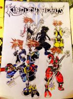 Kingdom Hearts 2 drawing of Sora's by deathbleachship