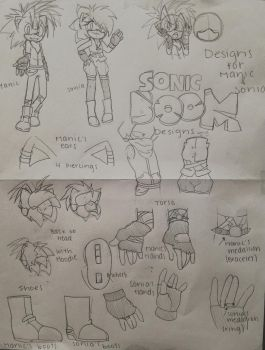 Manic and Sonia Sonic Boom Design Sheet by XDeyKilledKennyX