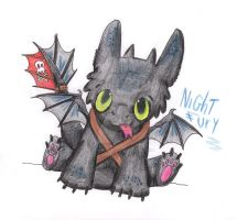 Toothless the Night Fury by WolfWhisperer123