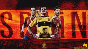 Spain Football Team Wallpaper by ManiaGraphic