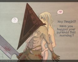 Pyramid Head - Morning Hug :3 by PrinceNuadaProject
