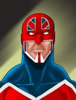 Old School Captain Britain by mrfuzzynutz