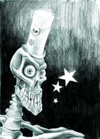 mr-bones pencil by mr-1up