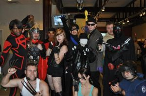 LOC scificon group shot by AcE-oFkNaVeS