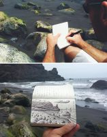 Black Sand Beach - Quick Live Sketch by BenHeine
