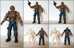3D printed action figure painted by hauke3000