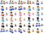 Large People Icons by bestwebicons58