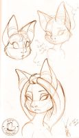 Bat Sketches 01 by KittMouri