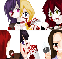6 psycho girls by XxRisako