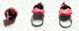 Strawberry Sundae Ring by mAd-ArIsToCrAt
