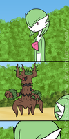 Hot Gardevoir on Trevanent Action by The-Clockwork-Crow