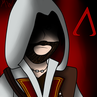 Comission for Ravenslayer117 - Ezio of AC by MaxtWolf