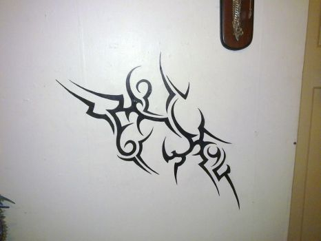 Tribal On My Bedroom Wall by SatanKlaws