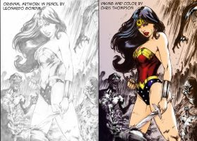 WONDER WOMAN COLOR by CThompsonArt