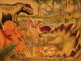 new project: dinosaurs-children-painting - step 3 by barbko