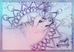 Lotus Wolf Sketch by ArkyiVolg