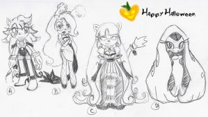 Halloween Set #1 ::CLOSED:: by Chobits13Adoptables