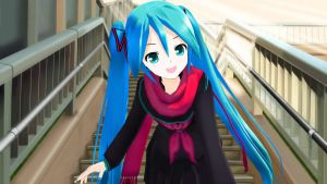 Come on ! MMD Hatsune Miku Lat Model by aki-2012-miku