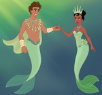 Naveen and Tiana mermaid maker by unicornsmile