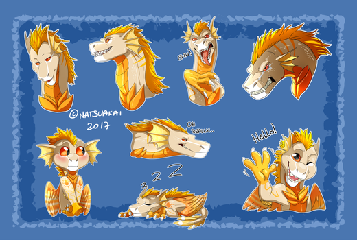 Comm: Jeremiah Stickers by Natsuakai