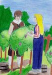 Cliff and Claire, in the Wine yard by 93FangShadow