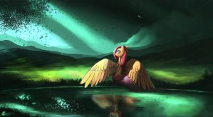beyond the forest, by Auroriia
