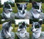 silver tabby cat fursuit head ~sold~ by undead-medic