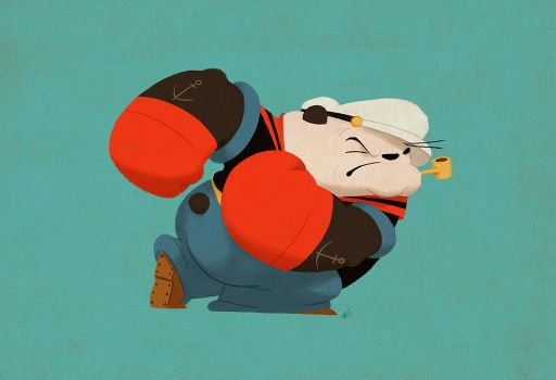 Popeye Panda by PunchingPandas