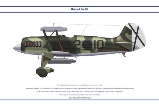He-51B Spain 2E2 by WS-Clave