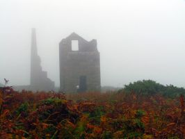 Foggy Tin Mine Ruin 2 Stock by Sassy-Stock