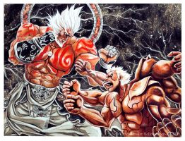 Asura's Wrath - Asura vs Augus by Hollow-Moon-Art