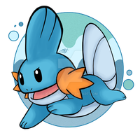 Mudkip by OminousOniBi