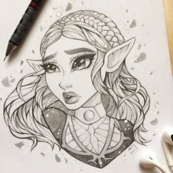 Breath of the Wild - Sketch by TheLittleArtyThing