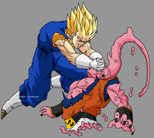 Super Vegeku vs SUpreme Buu by Bardock85