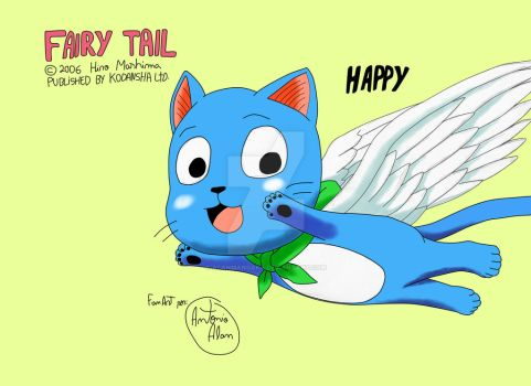 (Fanart) Happy from Fairy Tail by AlanMangaka
